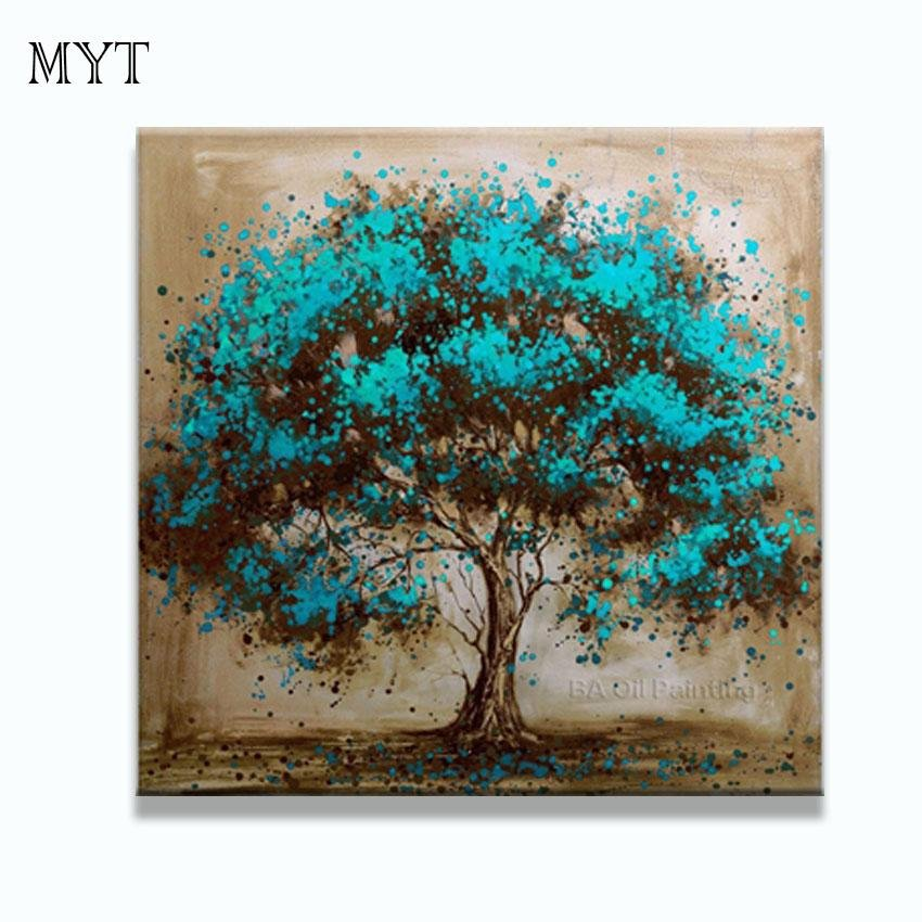 Hand Made Oil Painting Trees Flower - Gaia-Stock.com