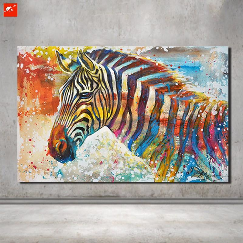 Hand Painted Zebra Modern Design - Gaia-Stock.com