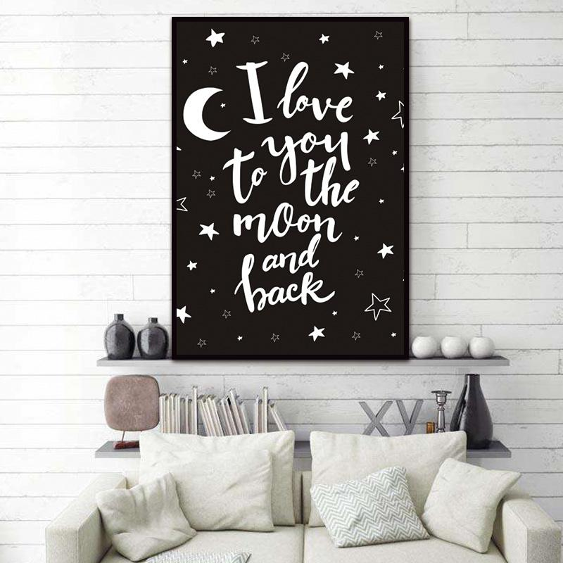 i love you to the moon and back wall art - Gaia-Stock.com
