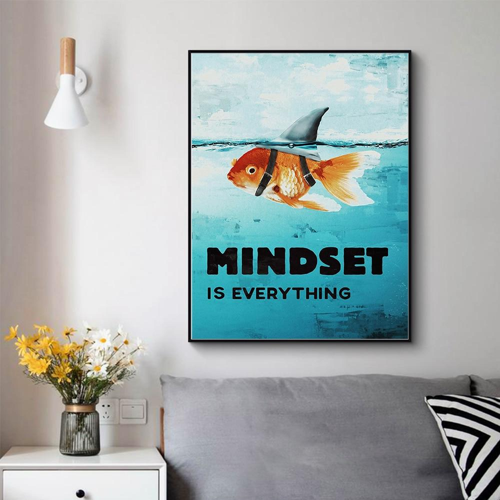 Mindset Is Everything Shark Fish Pictures Motivational Nordic - Gaia-Stock.com