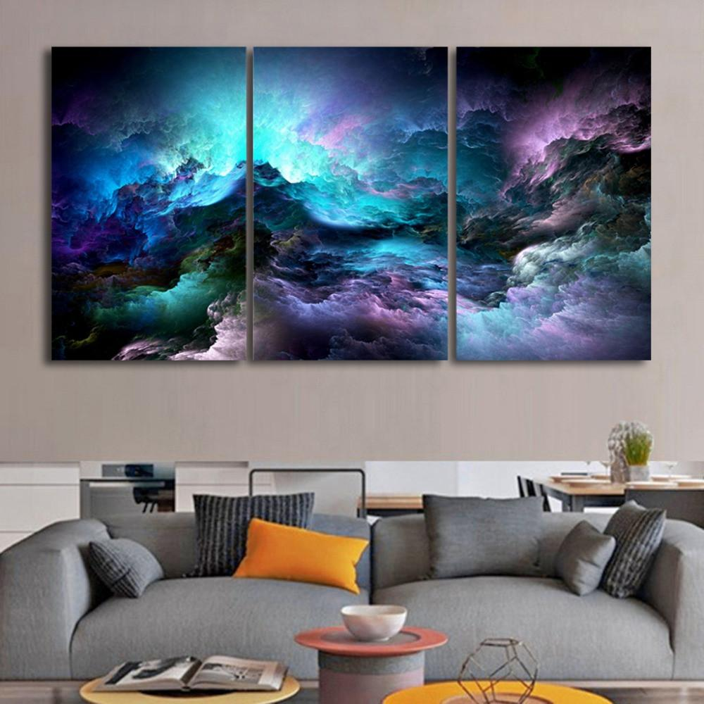 Modern Art Abstract Milky Way On Canvas - Gaia-Stock.com