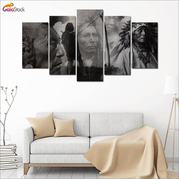 Native American Black & White Canvas - Gaia-Stock.com