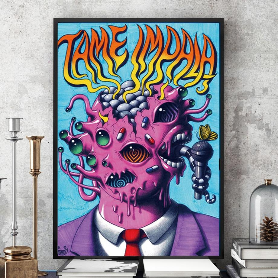 New Tame Impala Psychedelic Rock Music Band Tour Poster - Gaia-Stock.com