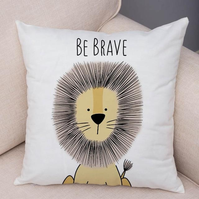 Nordic Zebra Hippo Giraffe Lion Crocodile Pillow Case Decor Animal Cushion Cover for Sofa Pillowcase Pillow Covers 45x45cm - Gaia-Stock.com