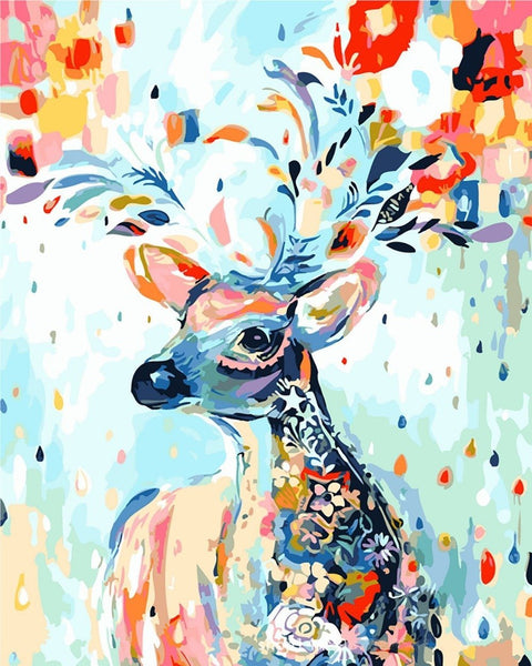 Paint by Numbers - Nordic Deer Paint In Numbers - Gaia-Stock.com