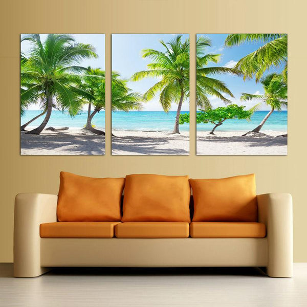 Peaceful And Sunny Beach On Canvas - Gaia-Stock.com