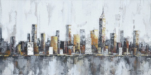 New york skyline cityscape architecture abstract gaia for New york skyline painting