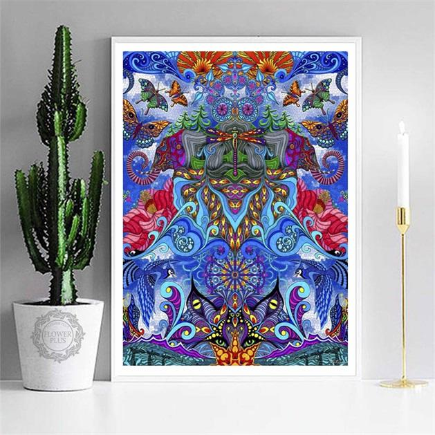 Psychedelic Trippy Poster Blacklight Paintings Abstract Posters - Gaia-Stock.com