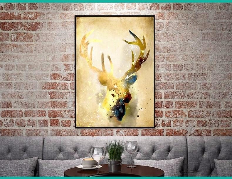 The Gold Deer Canvas - Gaia-Stock.com