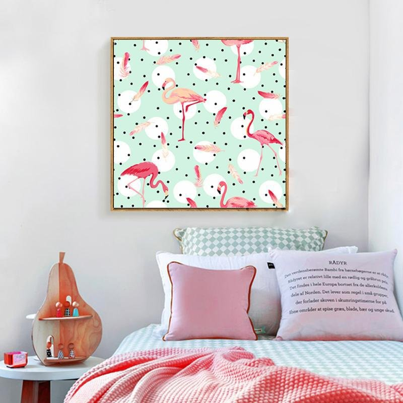 Tropical Pink Flamingo Wall Decoration - Gaia-Stock.com