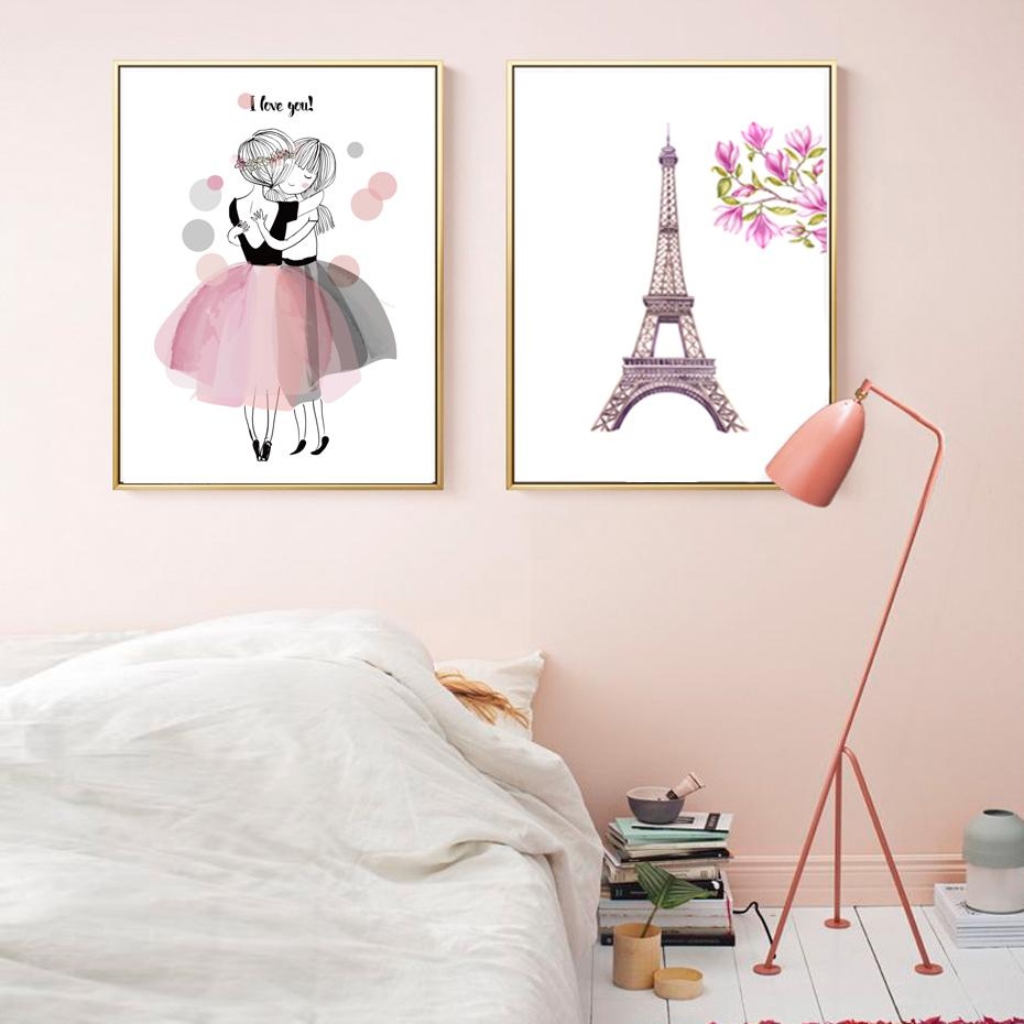 Watercolor Pink Princess Canvas - Gaia-Stock.com