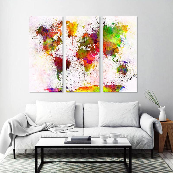 White/Colorful Modern World Map - Gaia-Stock.com