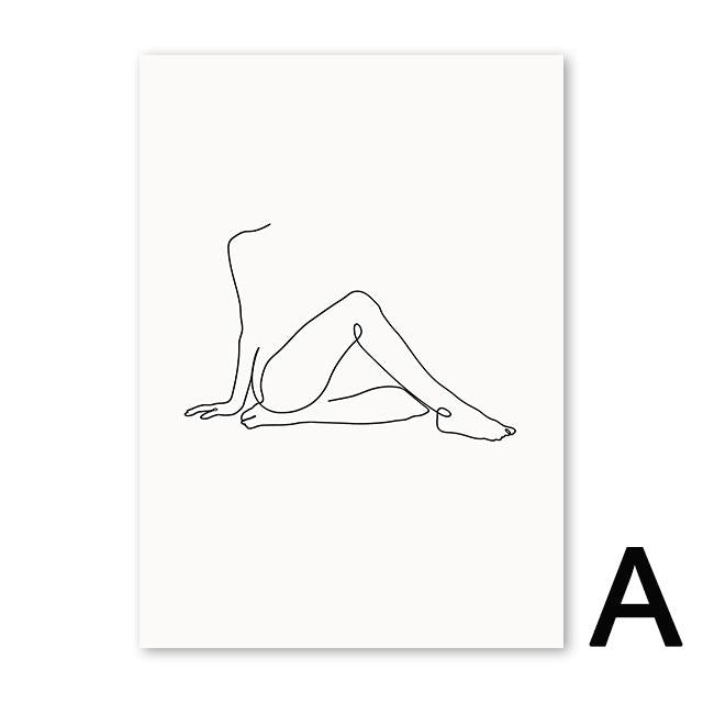 """women line"" - Minimalist abstract beautiful Poster - Gaia-Stock.com"