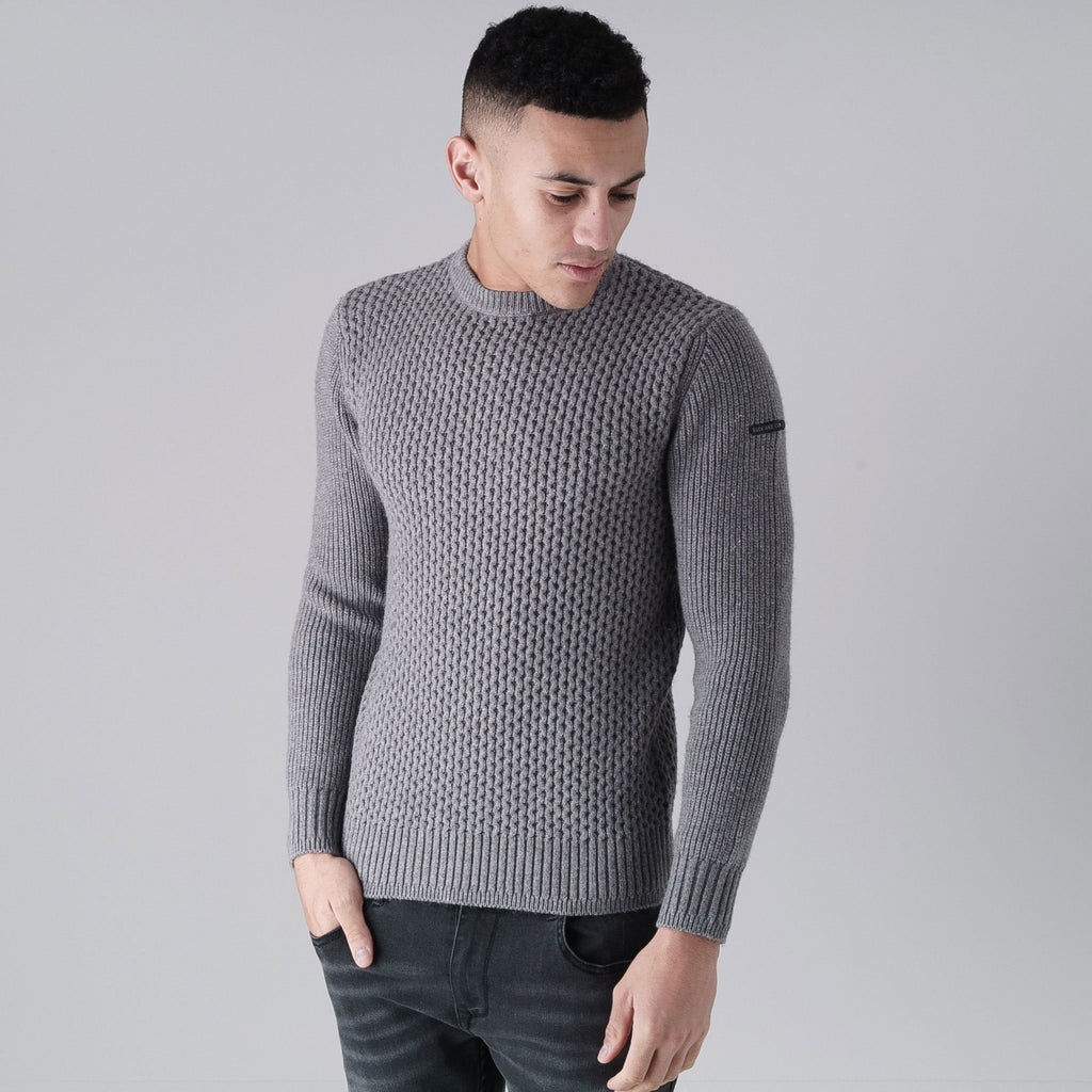 Beam Knit S / Grey Marl Knitwear