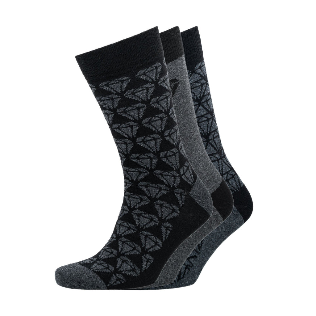 Cluster Gift Box Socks 3Pk - Black/ Charcoal Marl Accessories