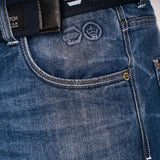 New Embossed Techno Jeans Stone Wash