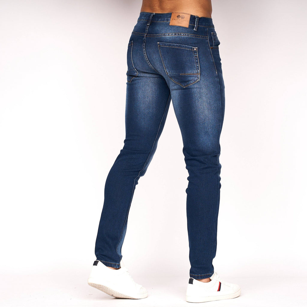 Emaciated Distressed Jeans Dark Wash