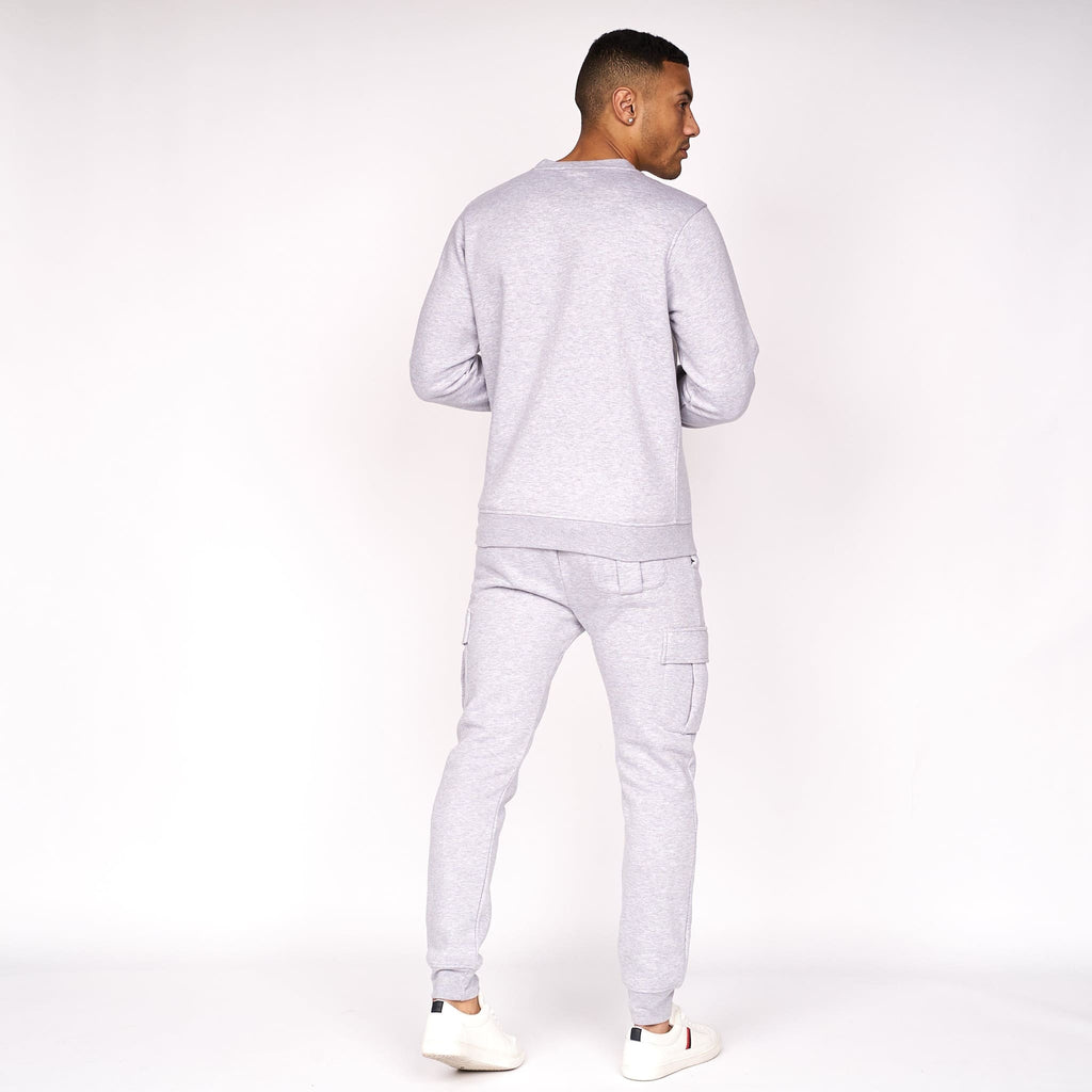 Cruetime Crew Sweat Grey Marl