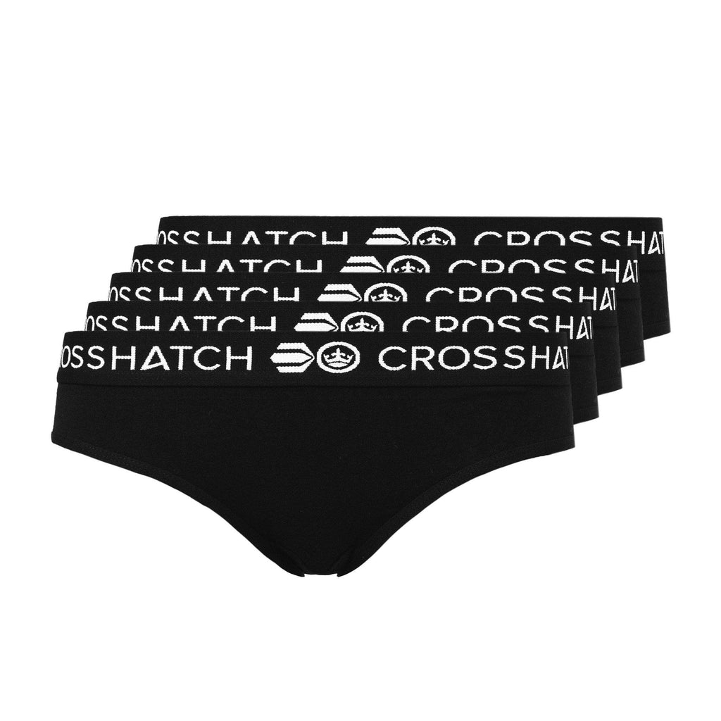 Ladies Harmony Briefs 5Pk - Black Accessories