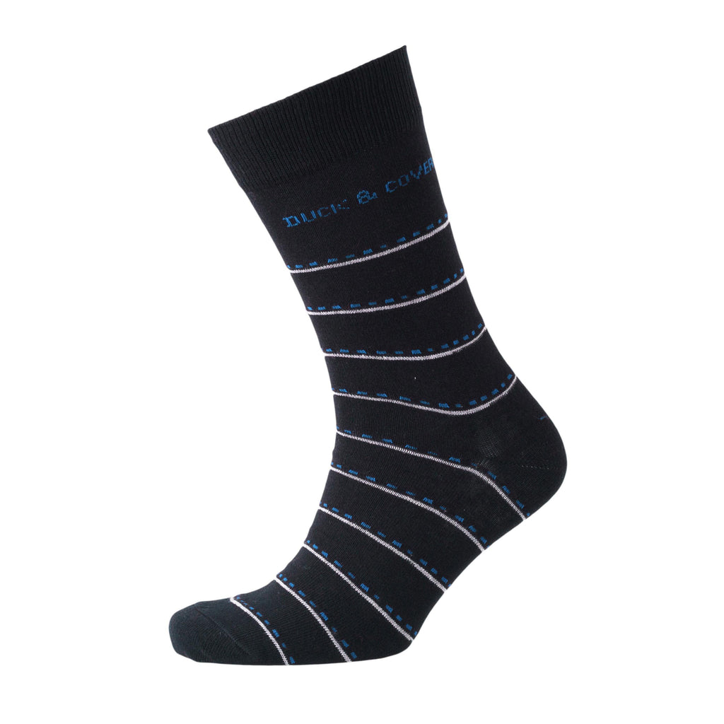 Dunford Socks - Striped Black Assorted 3Pk Accessories