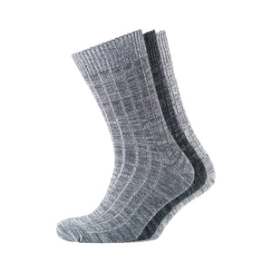 Rockwell Boot Socks - Charcoal/black/grey 3Pk Accessories