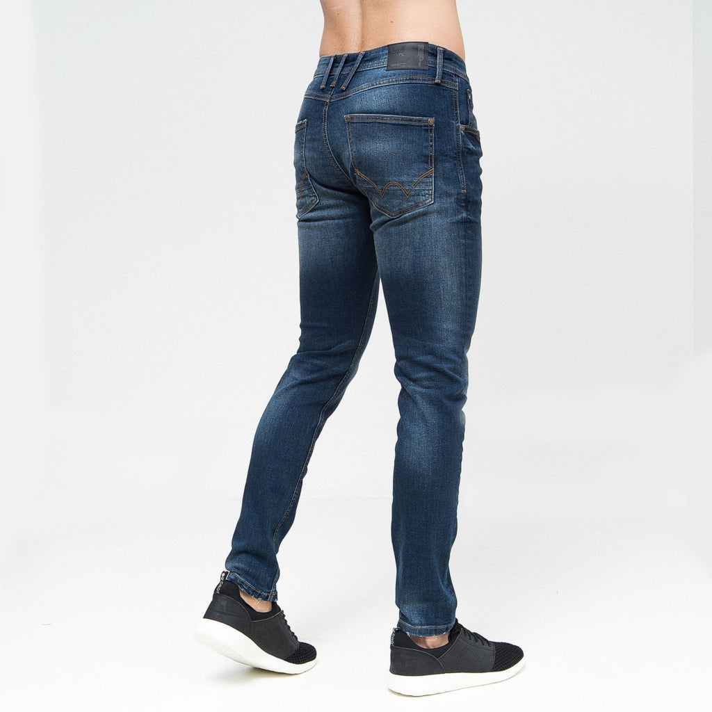Tranfold Slim Fit Jeans Tinted Blue
