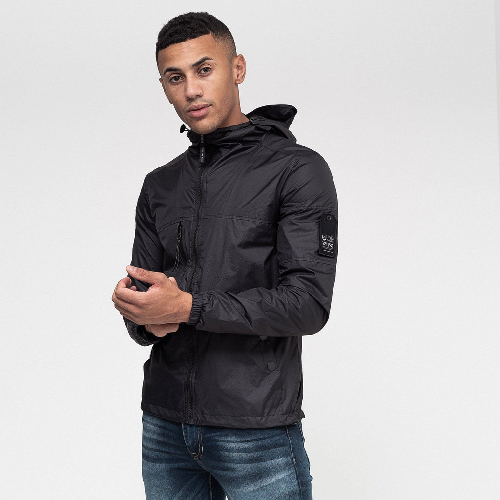 Goodman Hooded Jacket Jet Black Outerwear