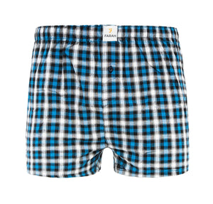 Checkrow Woven Boxers 3Pk - Dress Blues Check Accessories