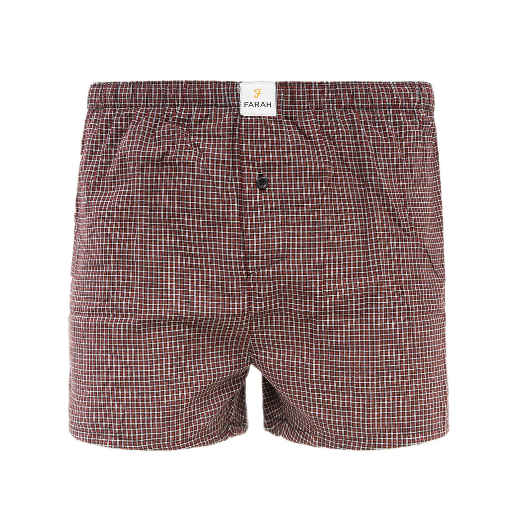 Checkrow Woven Boxers 3Pk - Black Check Accessories