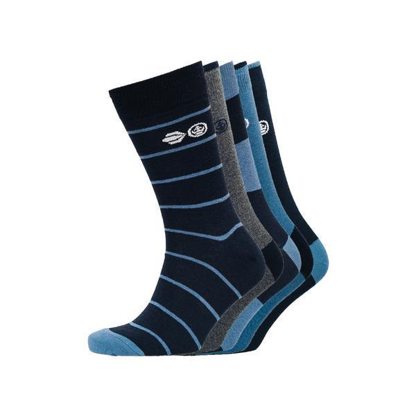 Clandon Socks 5Pk - Dark Sapphire/estate Blue Accessories