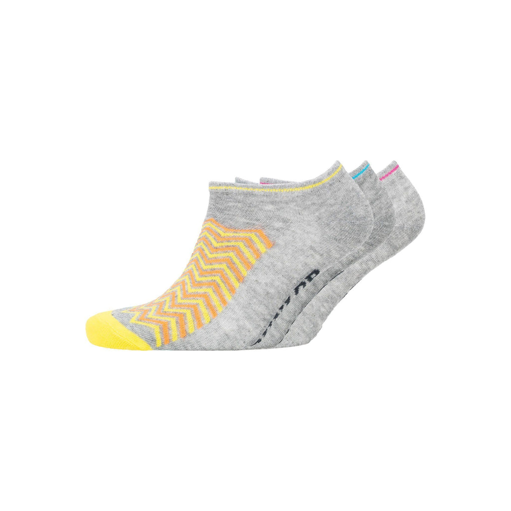 Ladies Cheveon Trainer Socks 3Pk - Assorted Underwear
