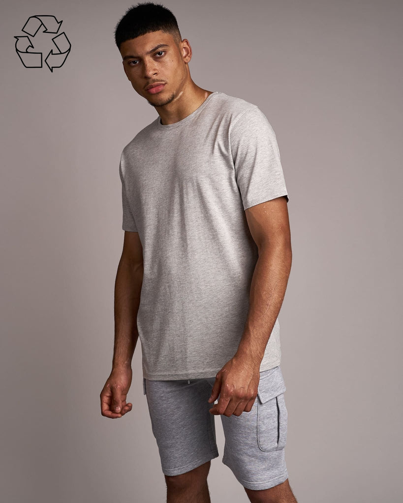 Mens Fanshaw T-Shirt Light Grey Marl