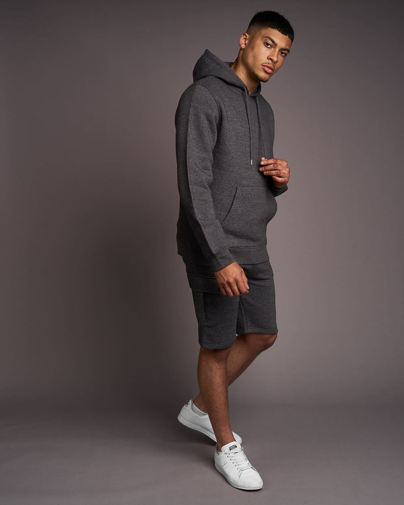 Mens Grevill Hoodie Charcoal Marl