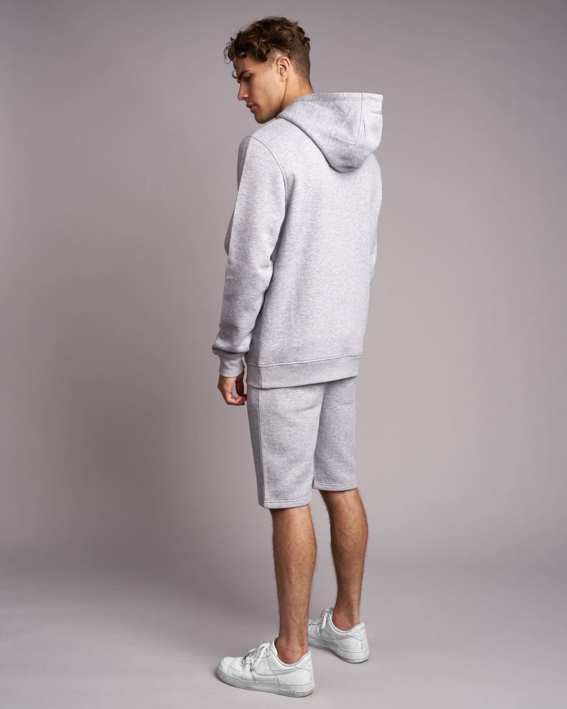 Mens Grevill Hoodie Light Grey Marl