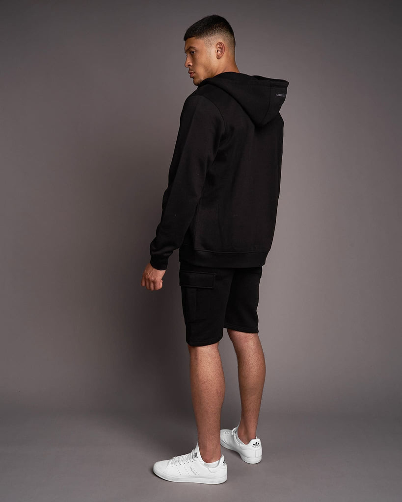 Mens Garret Zip Thru Hoodie Black