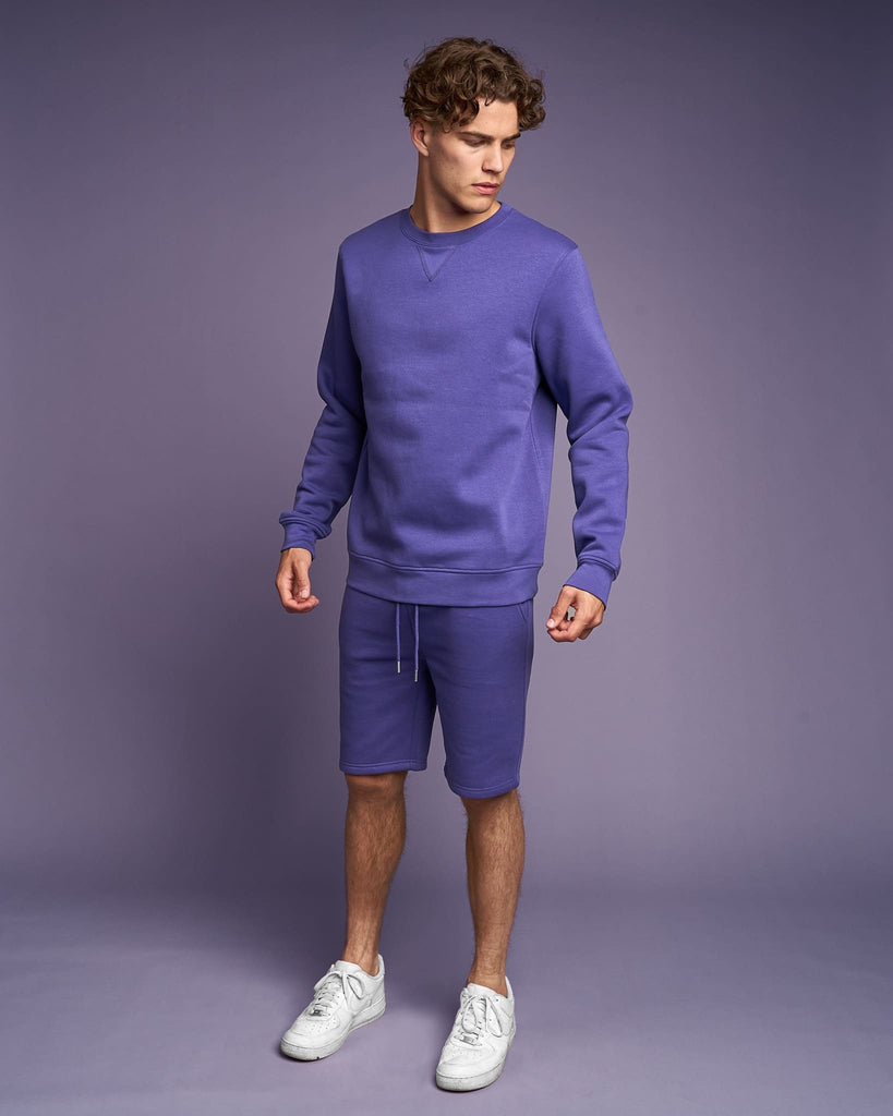 Mens Cranwood Crew Sweat Purple