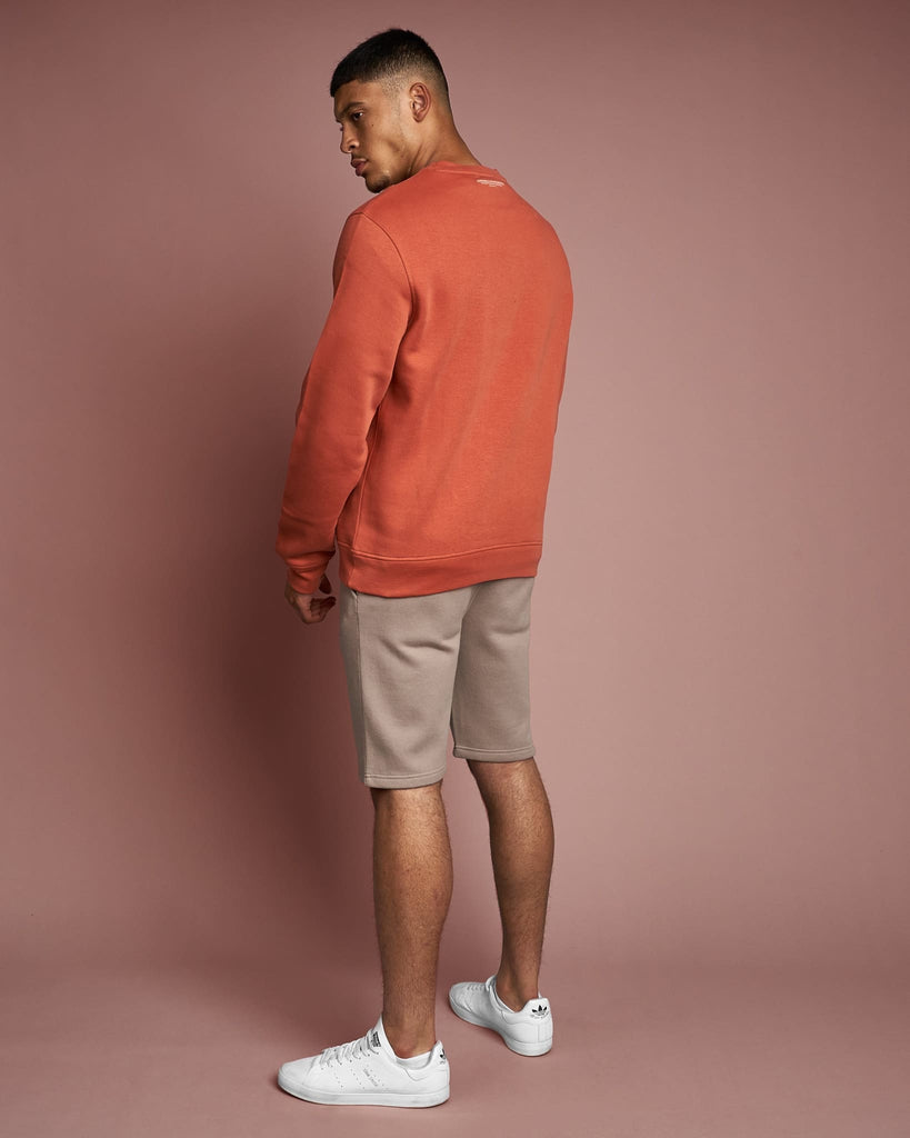 Mens Cranwood Crew Sweat Salmon