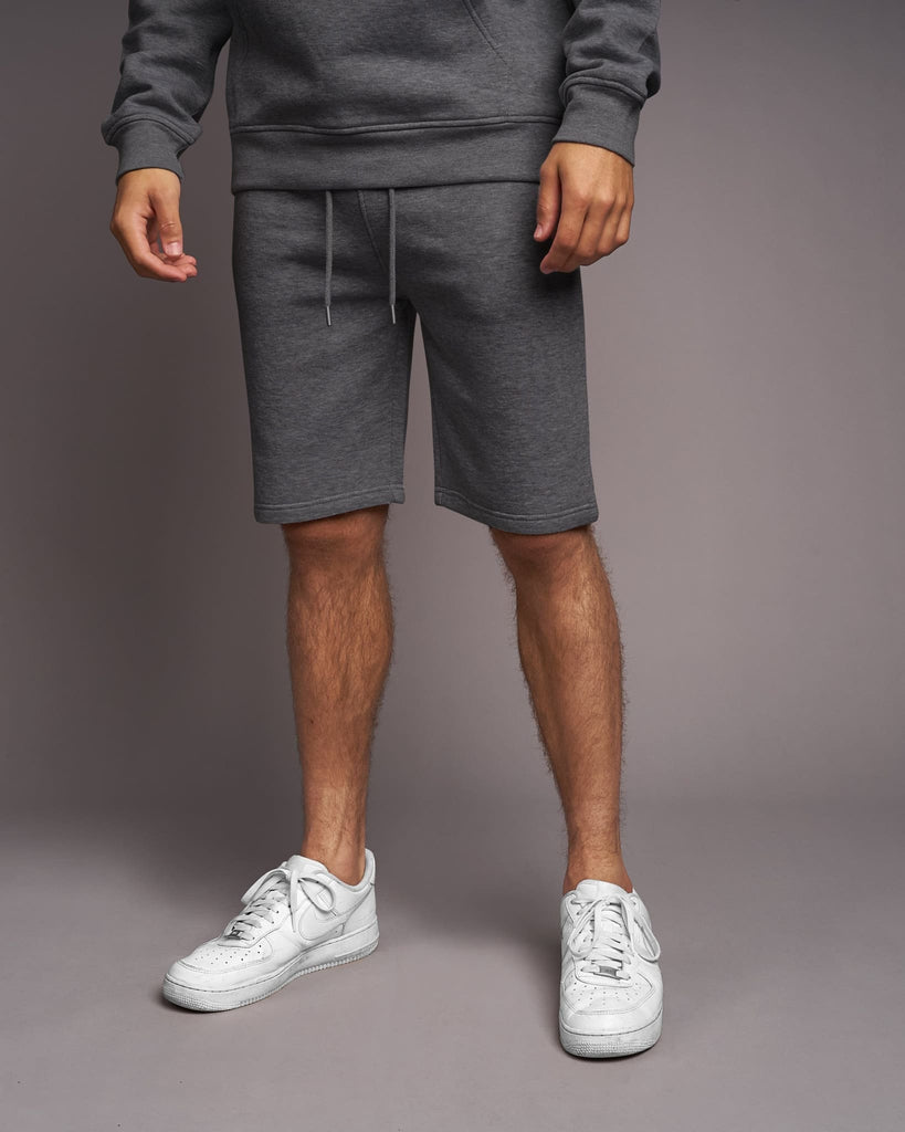 Mens Skipworth Combat Shorts Charcoal Marl