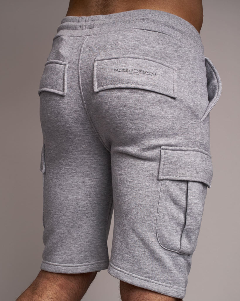 Mens Handley Combat Shorts Light Grey Marl