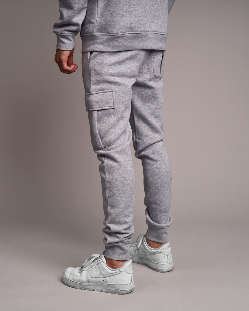 Mens Dawsons Combat Joggers Light Grey Marl