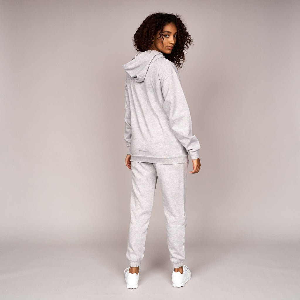 Ladies Earla Hoodie Grey Marl