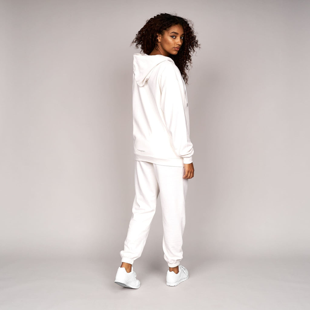 Ladies Fabrica Zip Thru  Hoodie White