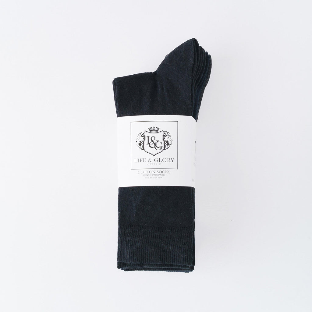 Peveril Socks 7Pk - Black/navy Blazer/charcoal Marl Accessories
