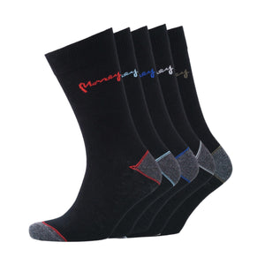 Bright Sig Socks 5Pk - Black Assorted Accessories