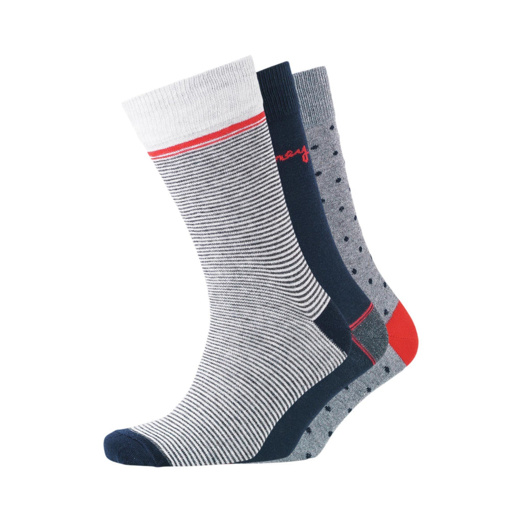 Dot Trio Socks 3Pk - Lt Grey/night Sky Accessories