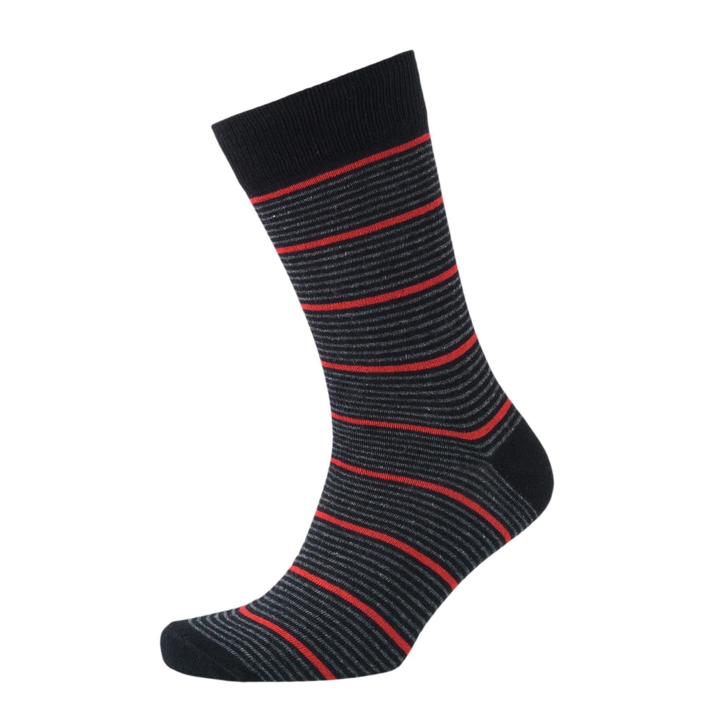 Stripe Mix Sig Socks 3Pk - Black Assorted Accessories