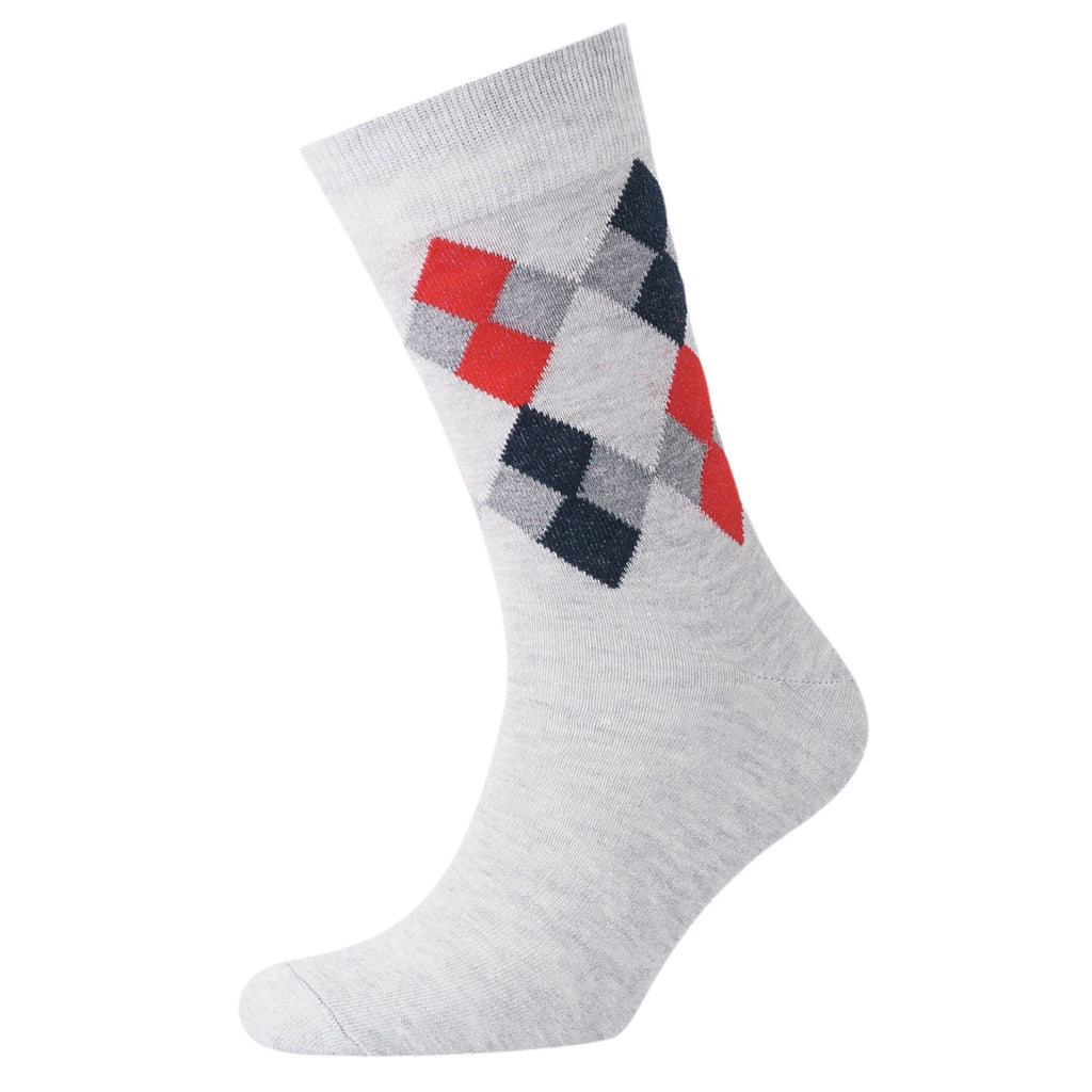 Diamond Sig Socks 3Pk - Lt Grey/night Sky Accessories