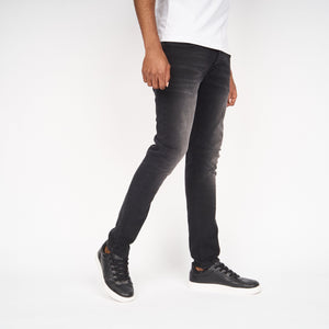 Ape Embossed Jeans Black