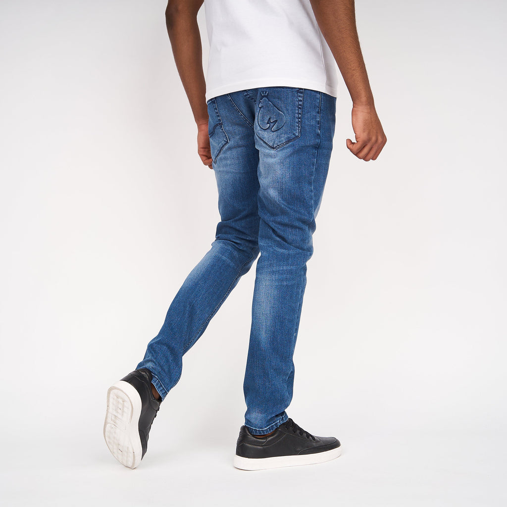 Ape Embossed Jeans Stone Wash