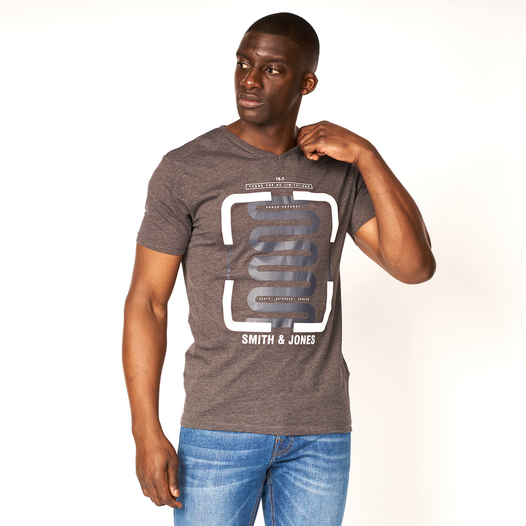Corbyn T-Shirt Dark Charcoal Marl